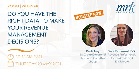 Do you have the right data to make your revenue management decisions? tickets