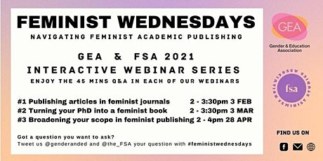 Feminist Wednesdays: Broaden Your Scope in Feminist Publishing tickets