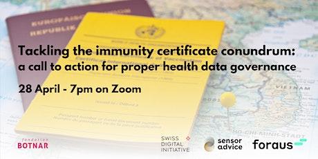 Tackling the immunity certificate conundrum biglietti