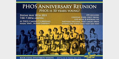 PHOS 50 year Anniversary Reunion tickets