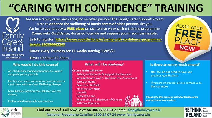 Caring with Confidence Education & Training Programme image