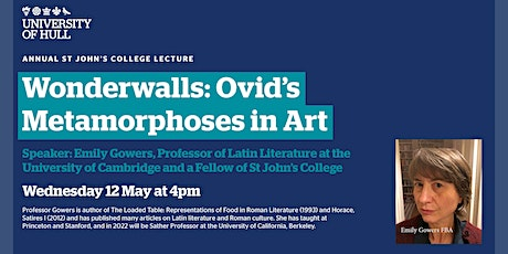 The Annual St John's College Lecture presents Professor Emily Gowers FBA tickets