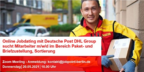 "Online-Jobdating mit ""Deutsche Post DHL Group"" Tickets"