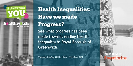 Health Inequalities: Have we made progress? tickets