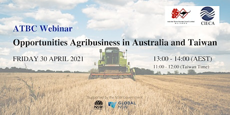 Opportunities Agribusiness in Australia and Taiwan tickets