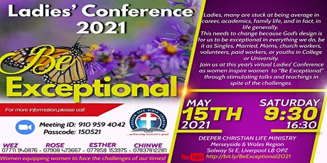 Ladies Conference 2021- BE EXCEPTIONAL tickets
