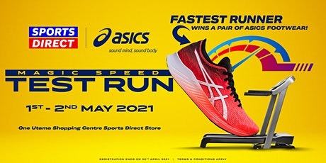 SD x Asics Magic Speed Product Trial tickets