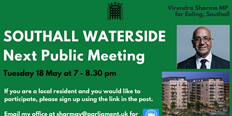 Southall Waterside Next Public Meeting tickets