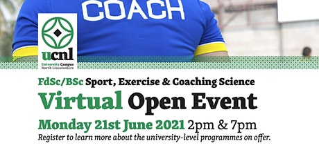 UCNL Sport, Exercise and Coaching Science Virtual Open Event ingressos