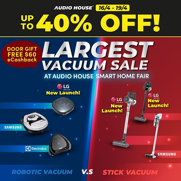 [Weekend Guide] Audio House Smart Home x Vacuum x BTO Sale image