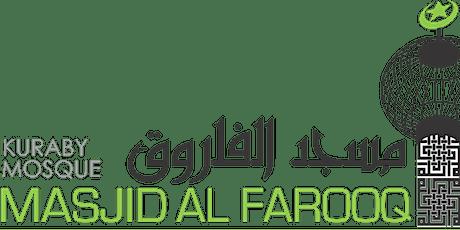Jummah at Kuraby Mosque 16 April  - 2 sessions tickets