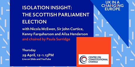 Isolation Insight: The Scottish Parliament election tickets