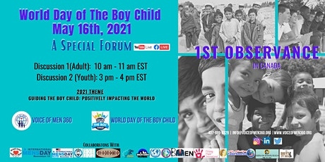 World Day of The Boy Child - 1st Observance in Canada | Discussion (Youth) tickets