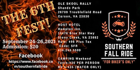 Southern Fall Ride 2021 tickets