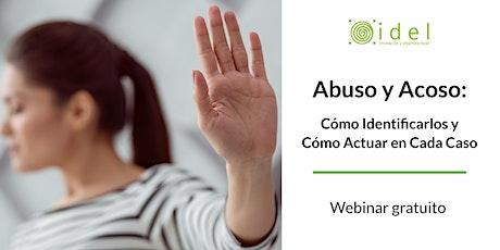 'Acoso y abuso: cómo identificarlos y cómo actuar en cada caso' entradas