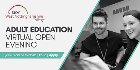 Adult Education Virtual Open Evening tickets