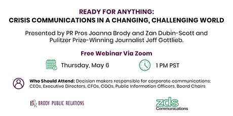 Ready for Anything: Crisis Communications in a Changing, Challenging World tickets