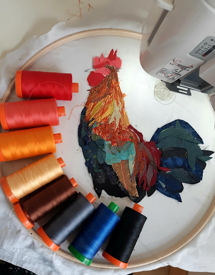 Free motion and Fabric Collage workshop with Kathy Ross image
