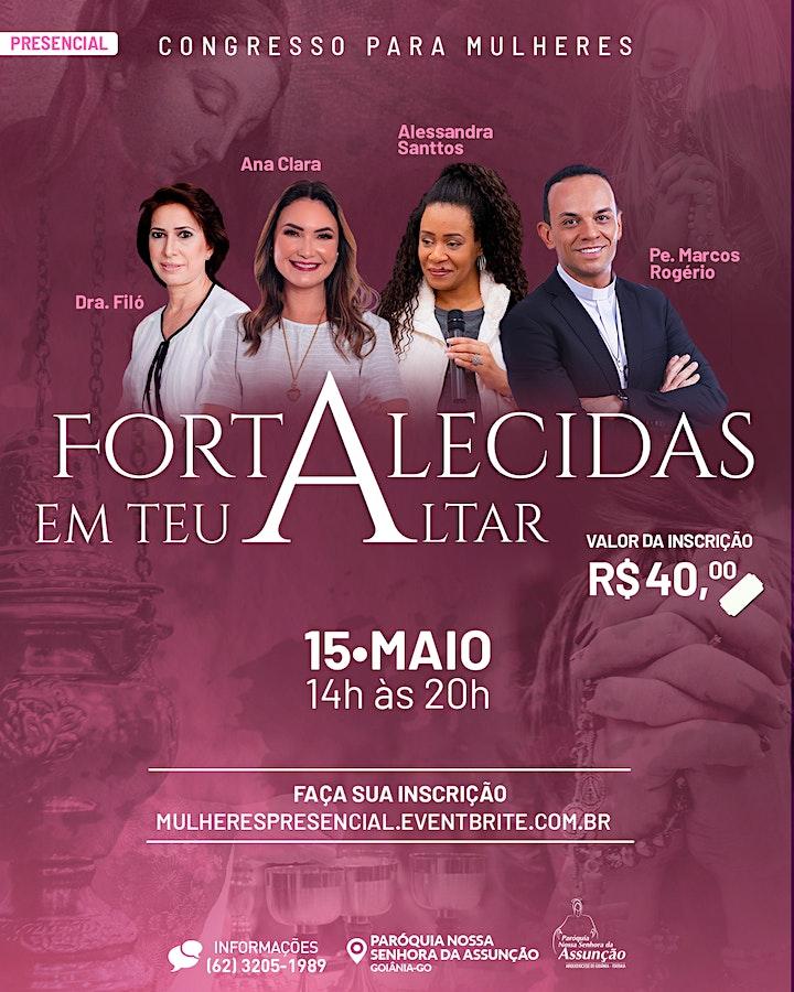 Imagem do evento Presencial - Congresso para Mulheres - Fortalecidas em Teu Altar