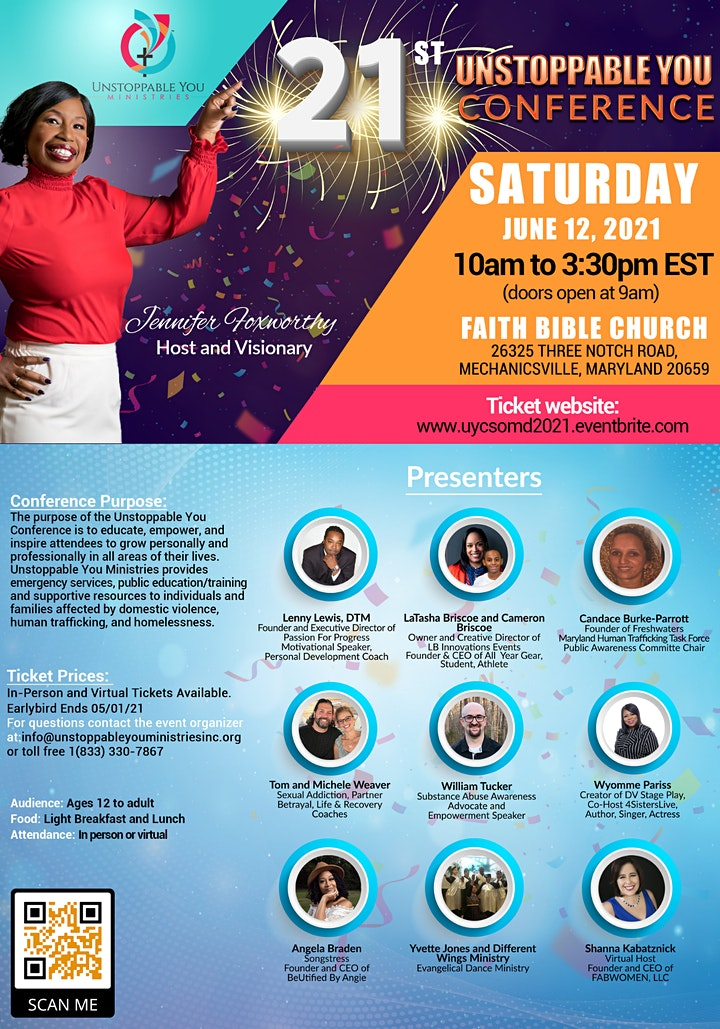 21st Unstoppable You Conference - Maryland (Virtual and In-Person) image