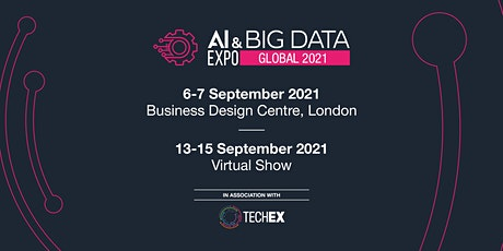 AI & Big Data Expo Global 2021| Virtual Conference tickets