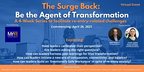 The Surge Back:  Be the Agent of Transformation tickets