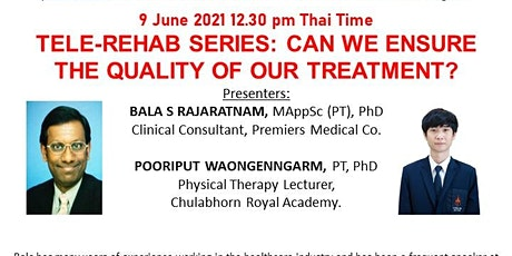 FREE TELE-REHAB SERIES 1: CAN WE ENSURE THE QUALITY OF OUR TREATMENT? tickets