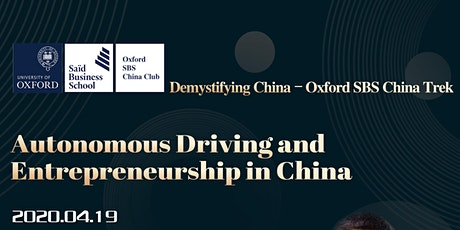 Autonomous driving and Entrepreneurship in China tickets