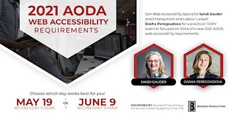 Copy of Ontario's 2021 AODA Web Accessibility Requirements tickets