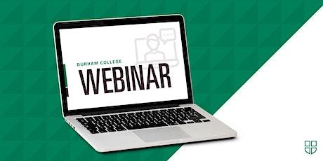 DC Webinar Series: Program Information Webinar tickets