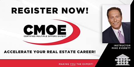 Certified Multiple Offers Expert (CMOE) Zoom Course with Mike Everett tickets