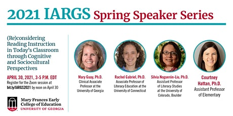 IARGS Spring Speaker Series 2021: (Re)considering Reading Instruction tickets