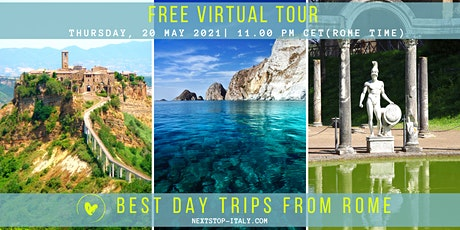 FREE VIRTUAL TOUR: ROME - Spectacular Spots for Unique Day Trips from Rome tickets