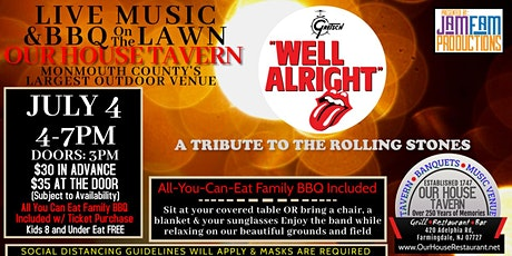 Well Alright: A Tribute to The Rolling Stones @ OUR HOUSE TAVERN tickets