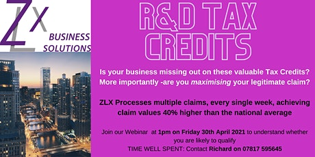 R&D Tax Webinar tickets