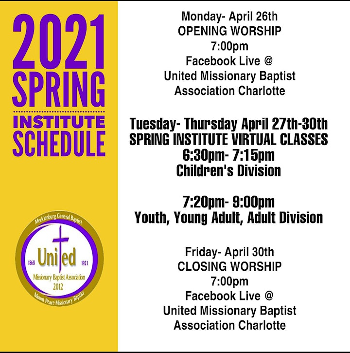 2021 UMBA Congress of Christian Education Spring Institute image