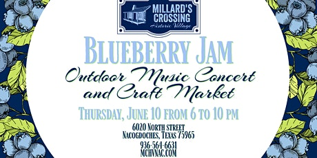 Blueberry Jam Outdoor Music Concert and Craft Market tickets