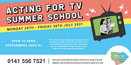 Acting for TV | Summer School | TSOS tickets