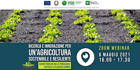 Ricerca e innovazione per un'agricoltura sostenibile e resiliente. biglietti