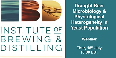 Draught Beer Microbiology & Physiological Heterogeneity in Yeast Population tickets