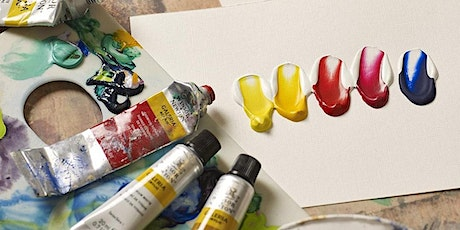 Acrylic Painting Stage 1-Colour Mixing & Textures  | Online Adult Art Class tickets
