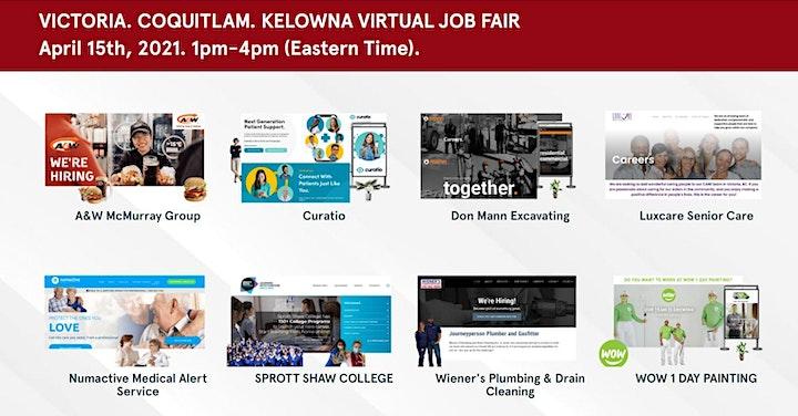 Kelowna Virtual Job Fair - Thursday, April 15th 2021 image