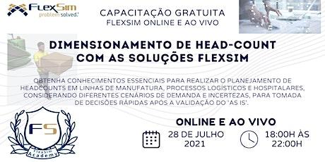 Dimensionamento de Head-Count com as soluções FlexSim bilhetes