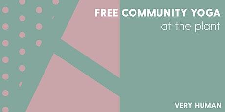 Very Human + The Plant Free Community Yoga tickets