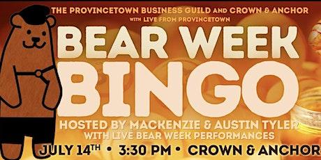 Bear Week Bingo tickets