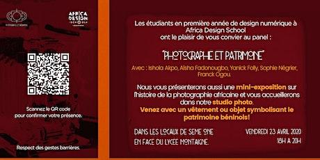 """Panel  """"Photographie et Patrimoine"""" billets"""