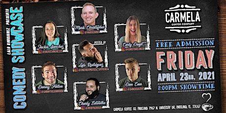 Comedy Night at Carmela Coffee (Parkland) tickets