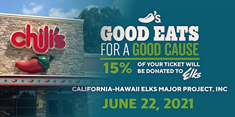 California-Hawaii Elks Major Project - Chili's Restaurant Fundraiser tickets