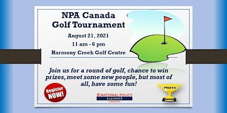 NPA Canada Golf Tournament tickets