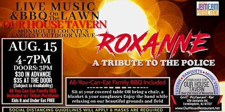 ROXANNE: A Tribute to The Police @ OUR HOUSE TAVERN tickets